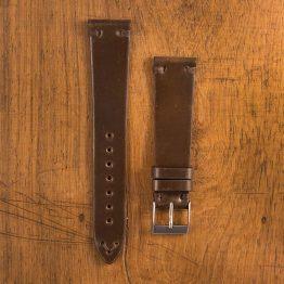 Cinturino Vintage Cordovan M1 Marrone Opaco Filo Marrone