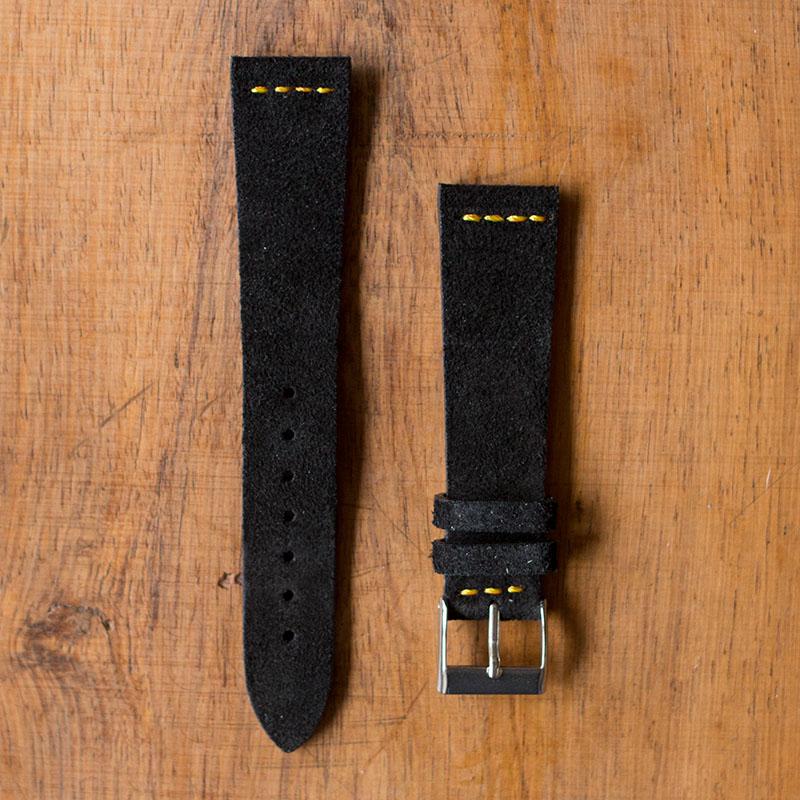 scarpe di separazione 16b5a aef88 Cinturino Vintage Scamosciato M3 Nero Filo Oro