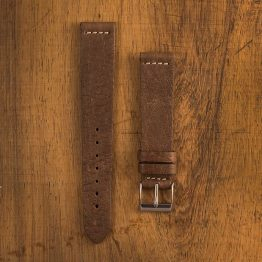 Cinturino Vintage Alce M3 Nicotina Filo Naturale