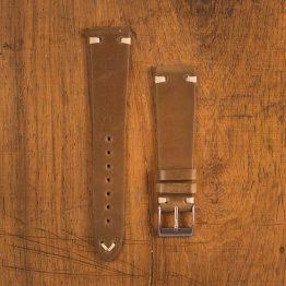 Cinturino Vintage Cordovan M1 Cognac Opaco Filo Beige