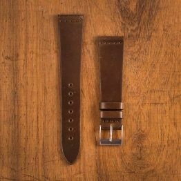 Cinturino Vintage Cordovan M3 Marrone Opaco Filo Marrone