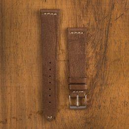 Cinturino Vintage Alce M4 Nicotina Filo Naturale