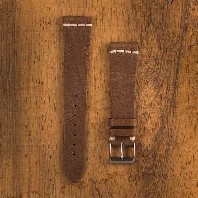 Cinturino Vintage Alce M6 Nicotina Filo Naturale
