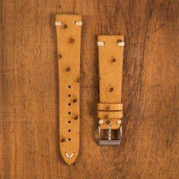 Cinturino Vintage Struzzo M1 Crema Filo Naturale