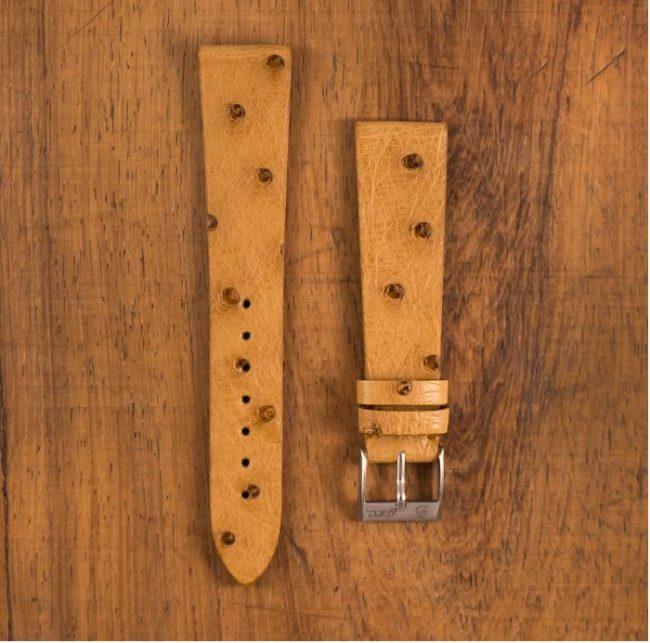 Cinturino Vintage Struzzo Crema