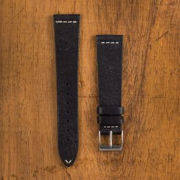 Cinturino Vintage Alce M3 Nero Filo Naturale